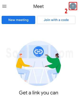 langkah 2 ganti email google meet hp