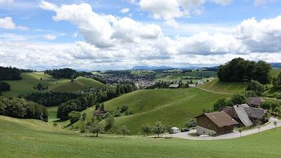 Blick nach Huttwil bei Oberglasbach