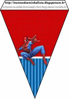 Banderines para Imprimir Gratis de Spiderman.