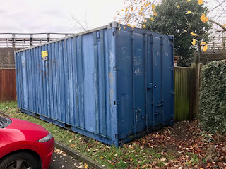 scrap metal shipping container