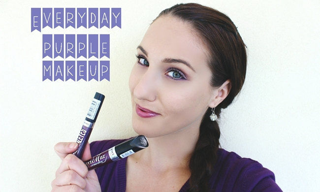 Everyday PURPLE makeup with 3 RIMMEL products video makeup tutorial