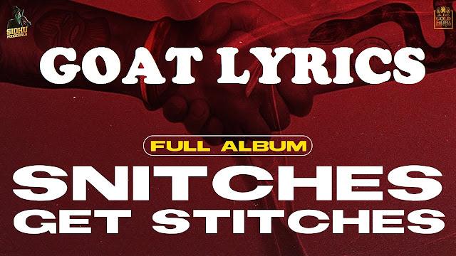 Goat Lyrics - Sidhu Moose Wala
