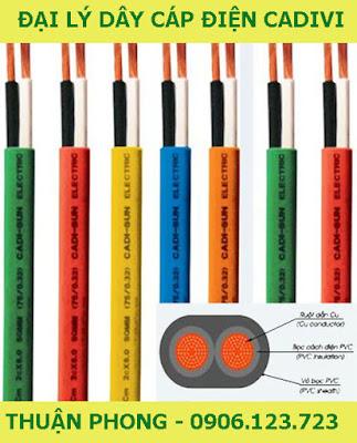 Đại lý dây cáp điện cadivi tại Trà Vinh cấp 1 giá gốc