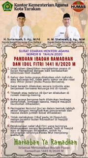 Panduan Ibadah Ramadhan dan Idul Ftri 1441 H - Tarakan Info