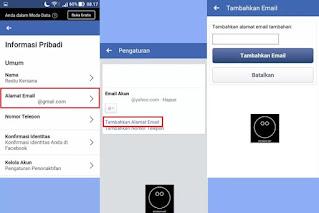 Cara Menggati Email Facebook Melalui Aplikasi Facebook #2