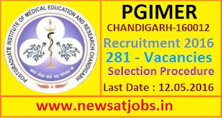 pgimer+recruitment+2016+selection+procedure