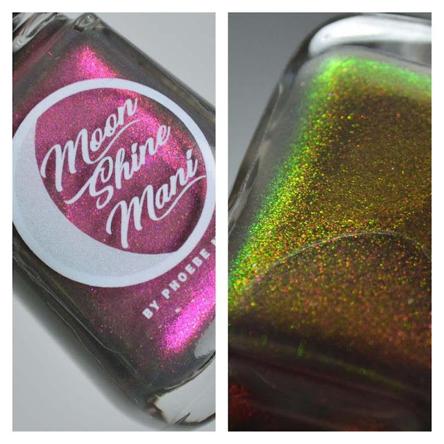 grey nail polish with color shifting shimmer in a bottle