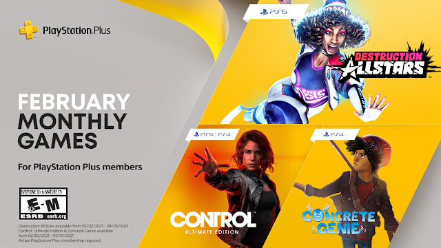 Monthly Games for PlayStation Plus Members - February: Control and Destruction All Star among three games | TechNeg
