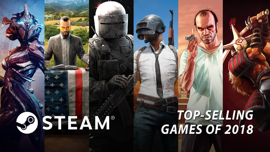 top best selling video games 2018 steam