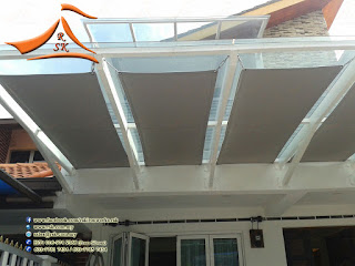 A #tensile #membrane type #shade at #Hartamas #Bungalow #House  For more information you may call / Whatsapp / SMS to 0169749366 (Mr. Prem)