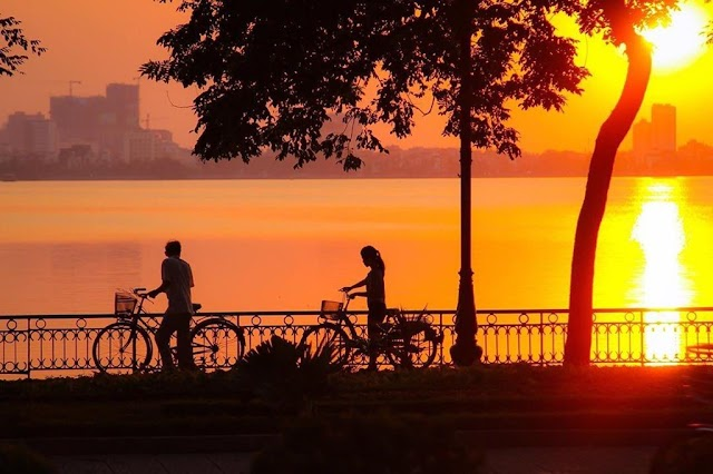 3 beautiful sunset views in Hanoi you may not know