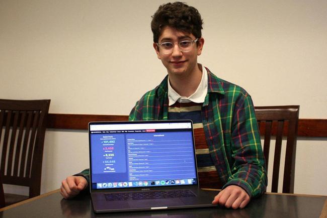 Thiếu niên từ chối 8 triệu USD, tạo web miễn phí chia sẻ dữ liệu COVID-19