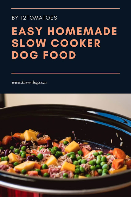 Easy Homemade Slow Cooker Dog Food