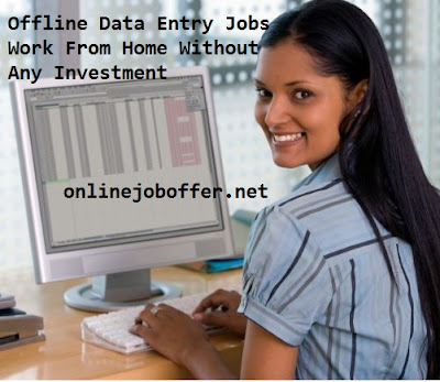 Offline Data Entry Jobs Work From Home Without Investment