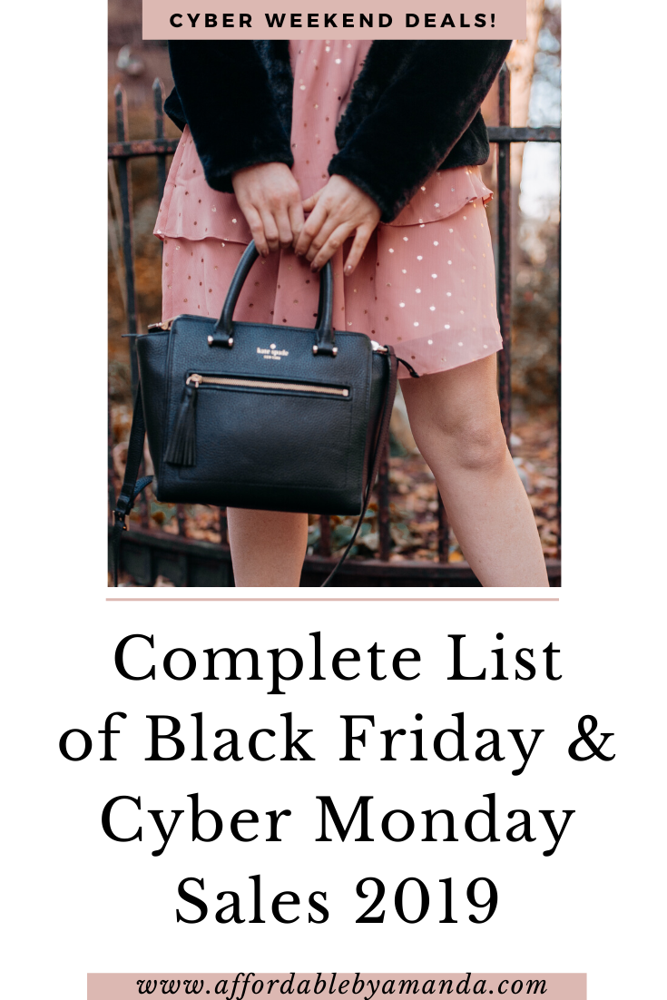 Black Friday Sales and Cyber Monday Deals 2019 | Affordable by Amanda