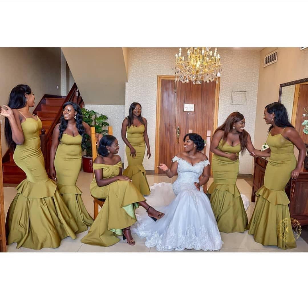Nigerian Wedding Bridesmaids: Latest Nigerian Bridesmaids Dresses 2018-2019