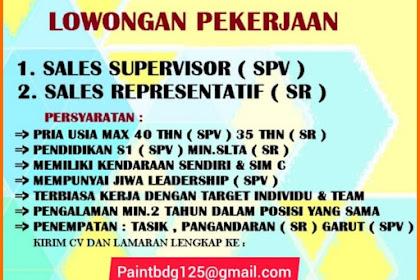 Lowongan Kerja PAINTBDG Penempatan Tasikmalaya, Garut, Pangandaran