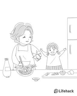 ilustrasi ibu