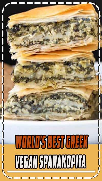 World's Best Greek Vegan Spanakopita