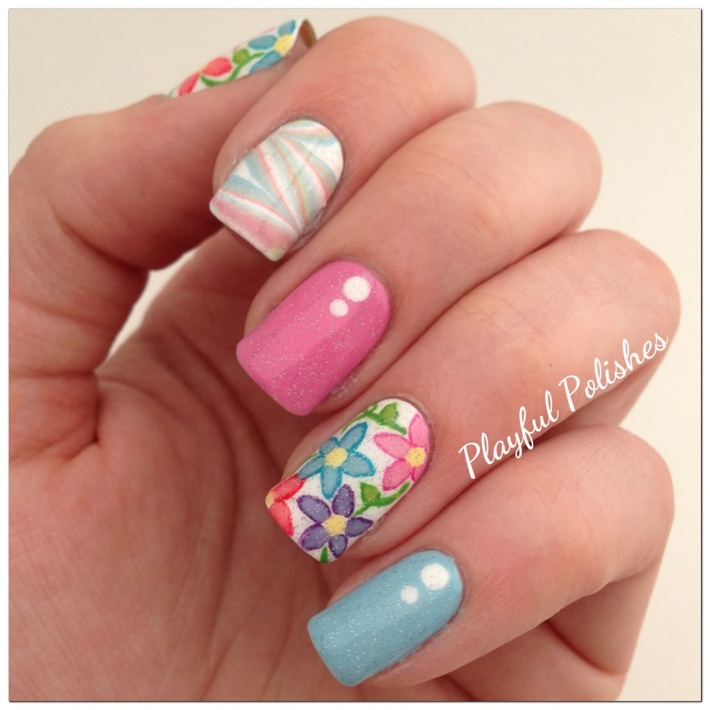Colorful Nail Designs: Playful Polishes: SPRING NAIL ART USING SINFUL COLORS