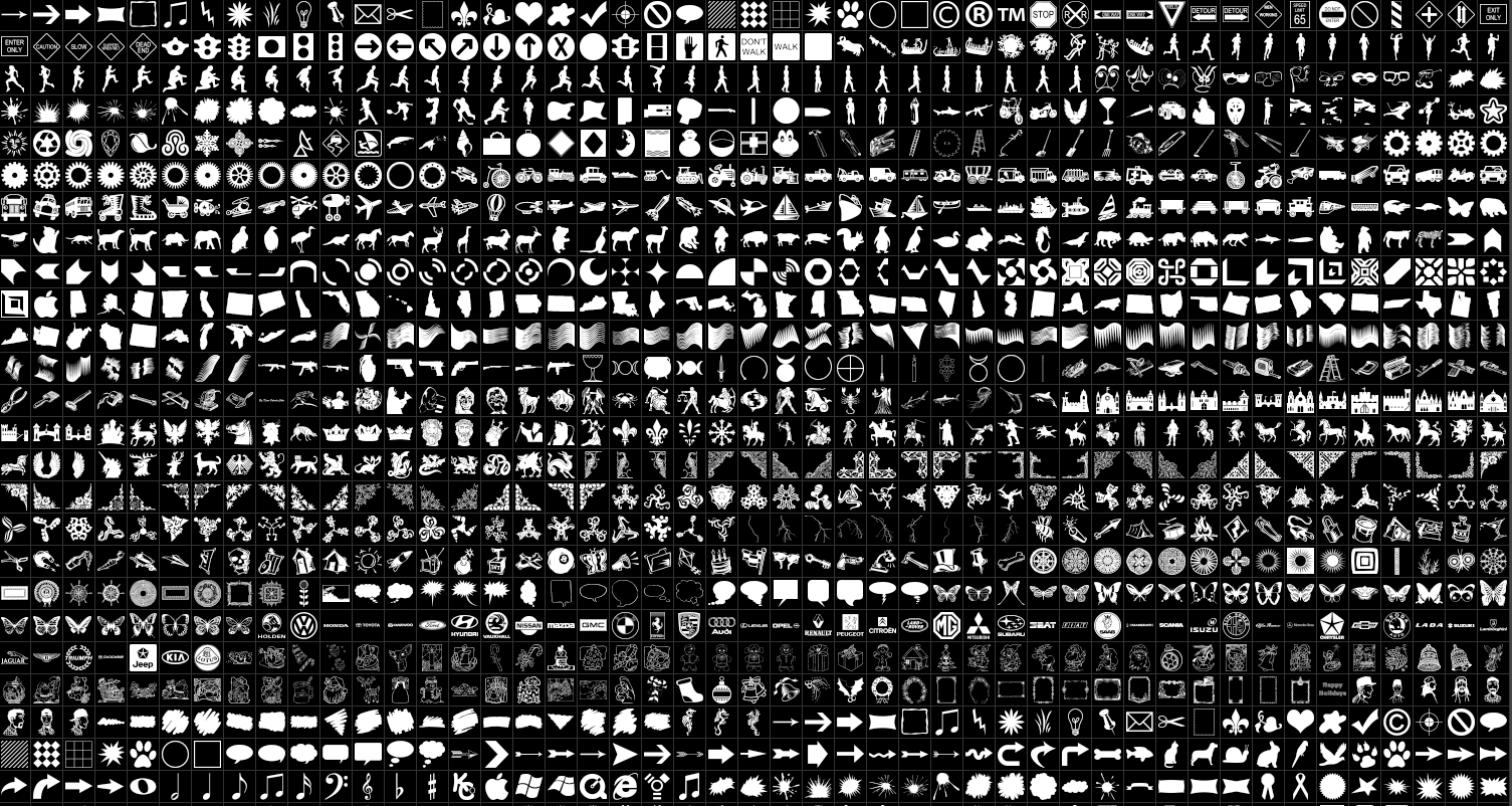 Download shapes for Photoshop 1190 shapes in one batch