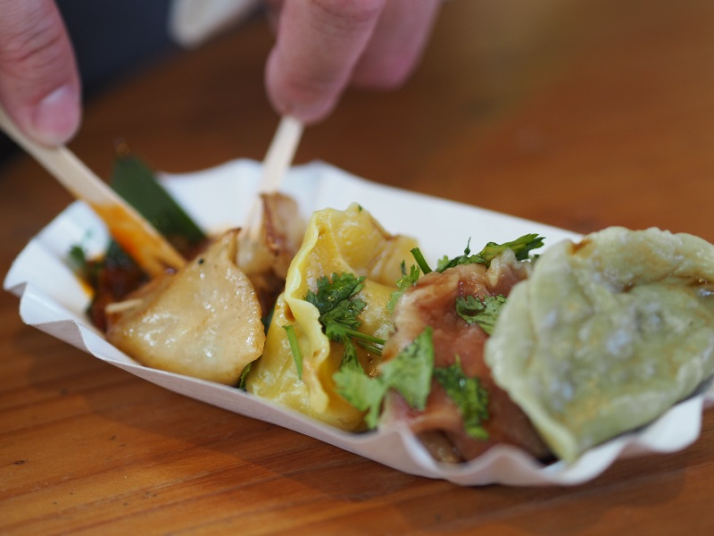 Chinese dumplings at Markthalle Neun