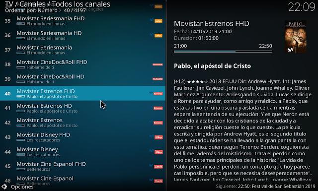 Completa guia de programación canales movistar