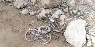 Bicicletas en el fondo, Pozo Ostión, La Arboleda, Bizkaia
