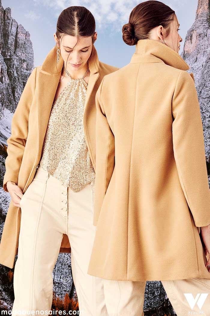 tapados de paño invierno 2021 moda mujer