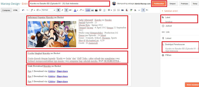 Cara Upload video blog download anime
