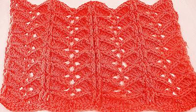 5 -Crochet.Imagen puntada a crochet para la cobija a relieve.Majovel Crochet Ganchillo