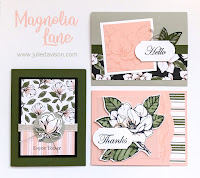 Stampin' Up! Good Morning Magnolia Card Kit ~ Magnolia Lane ~ 2019-2020 Annual Catalog ~ Stamp of the Month Club Card Kit ~ www.juliedavison.com