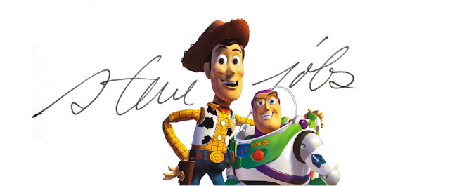 Steve Jobs Autographed Toy Story Poster