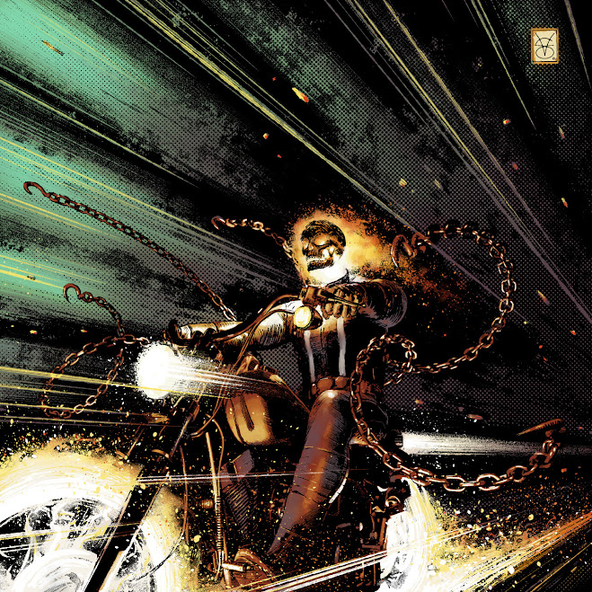Ghost Rider Illustration by Valerio Giangiordano