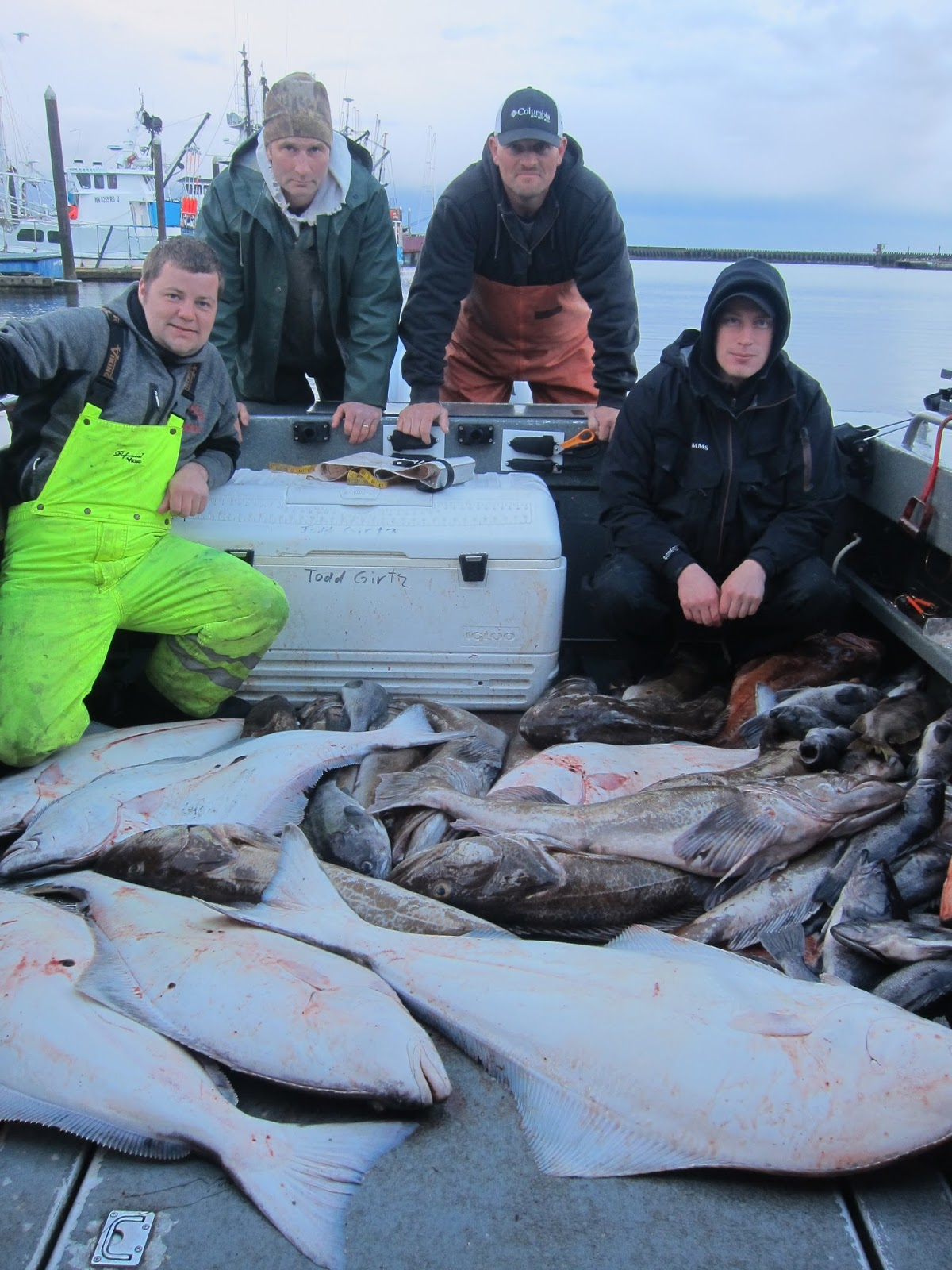 Todds extreme fishing westport halibut lingcod and bass for Halibut fishing washington