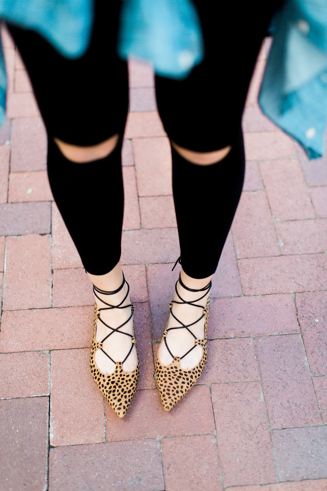 Open Knee Leggings, Leopard Flats, Sole Society Flats