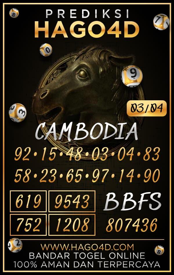 Prediksi Hago4D - Rabu, 3 April 2021 - Prediksi Togel Cambodia