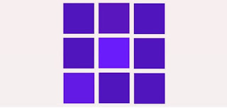 How many squares have a different color?