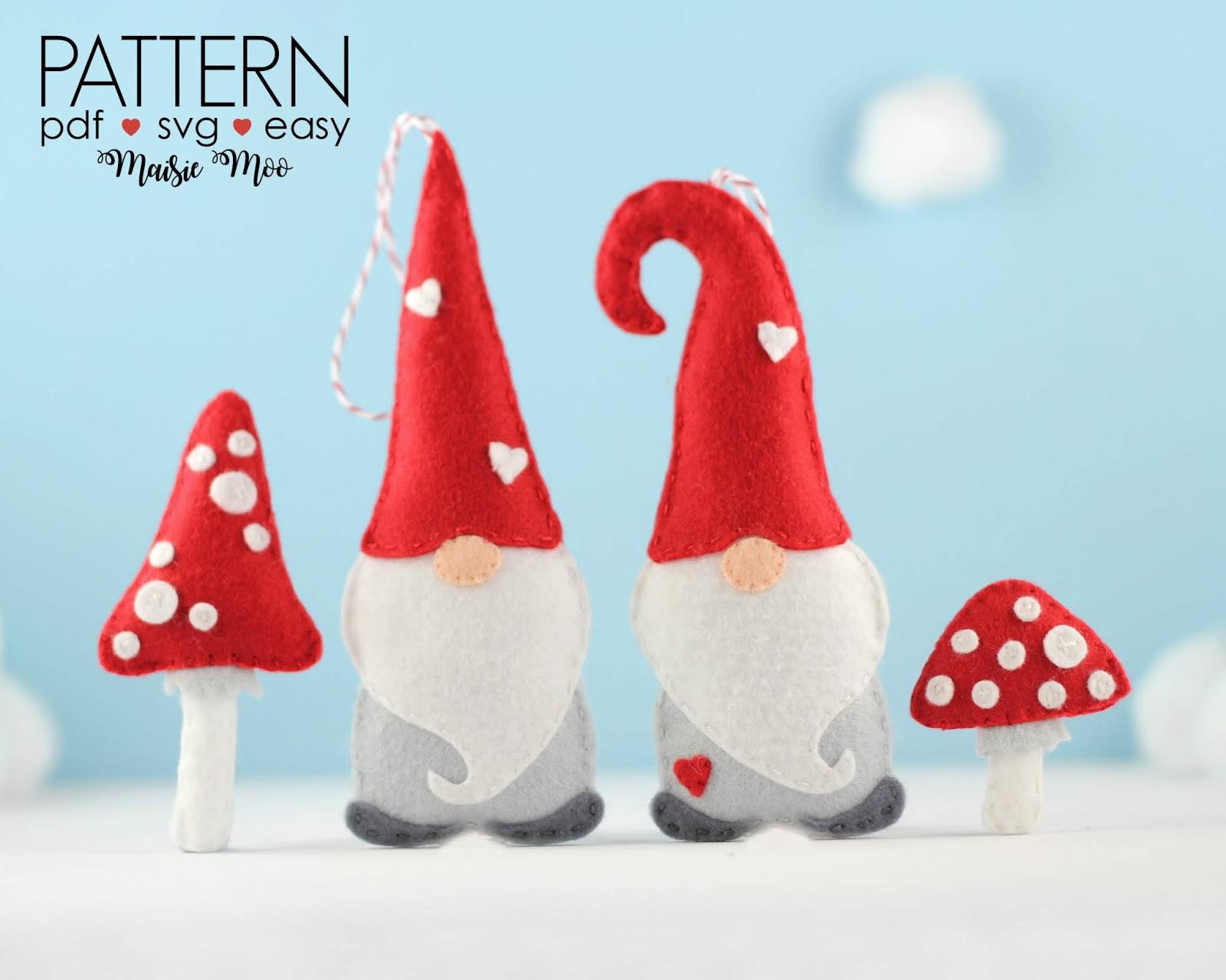 Felt Christmas Tree Ornaments Patterns.Yes I Made This Felt Christmas Gnome Pattern Christmas