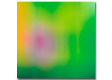abstract digital painting, contemporary art, contemporary painting, green, yellow, pink, abstract art, Sam Freek,