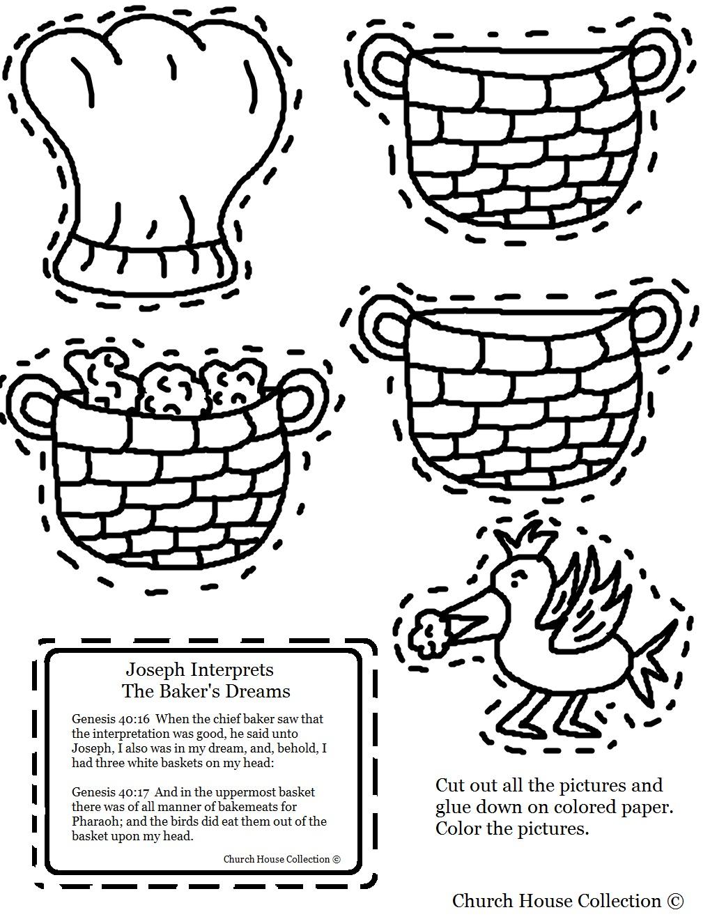 Church House Collection Blog Joseph Interprets The Bakers Dreams