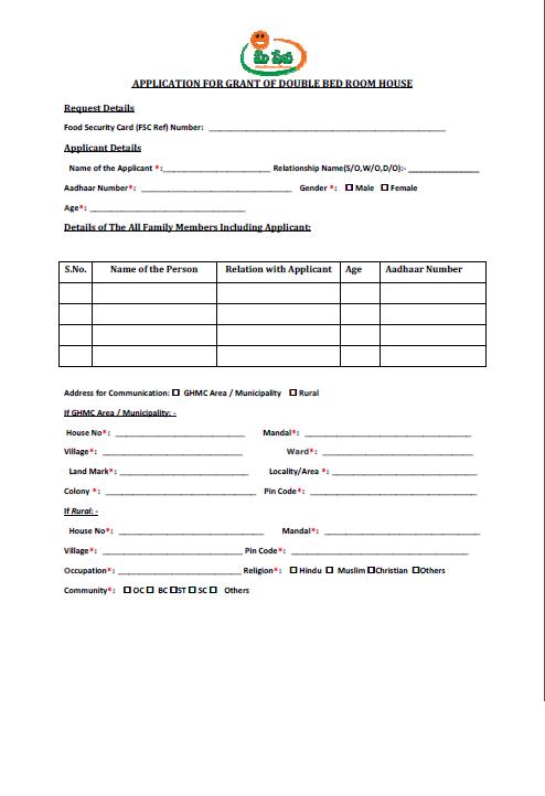 Card application pdf telugu ration form