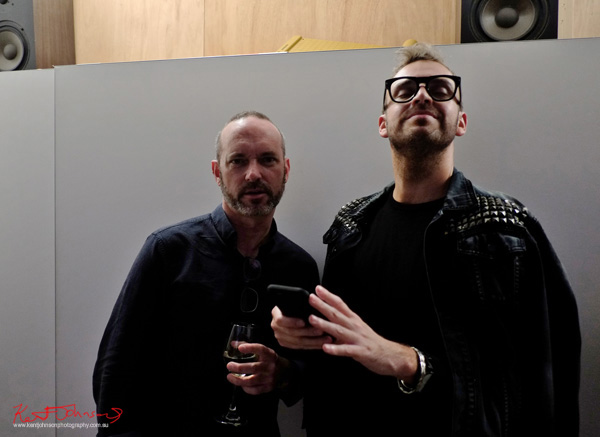 Geoffrey Jaeger & Christopher Haggerty at Badger & Fox Gallery for the opening of Click!