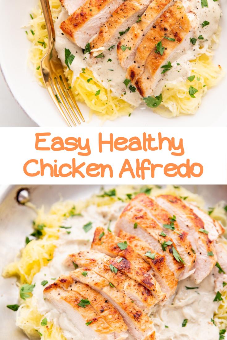 Easy Healthy Chicken Alfredo