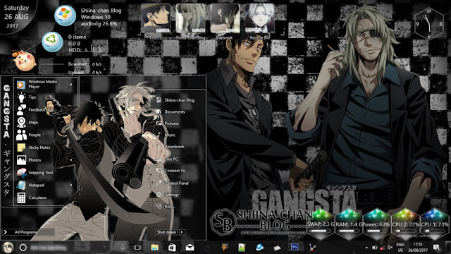 Windows 10 Ver. 1803 Theme GANGSTA by Enji Riz