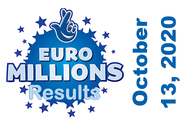 EuroMillions Results for Tuesday, October 13, 2020