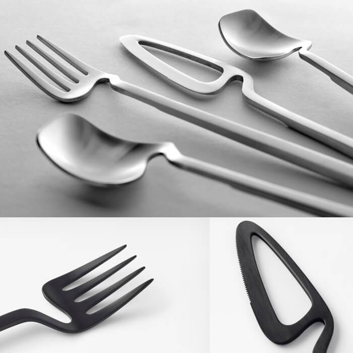 Details of skeleton cutlery collection designed by Nendo