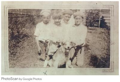 Freddie, Ida, and Francis Killman play with René Alberta in New Orleans, Louisiana (ca. 1928)