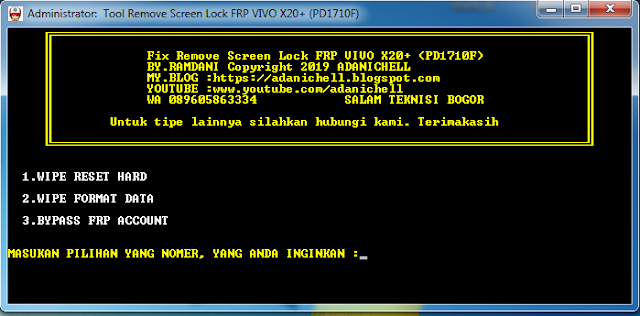 Fix Unlock Lupa Pola Vivo X20 Plus (PD1710F)