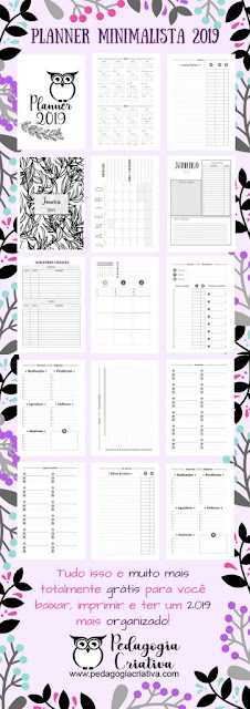 Planner 2019 para imprimir